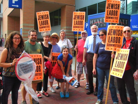 JLC in front of Hyatt Labor Seder cover4web.jpg
