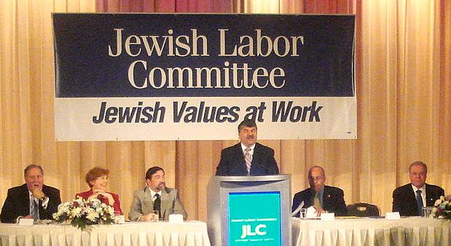 Richard Trumka at October 27 2009 JLC Human Rights Awards Dinner DSC01425edited.jpg