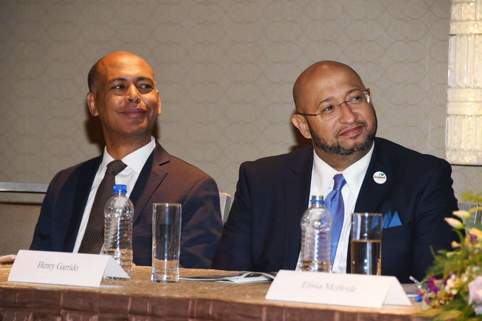 Tefere Gebre and Henry Garrido at the 2018 JLC HRA Awards Dinner.JPG